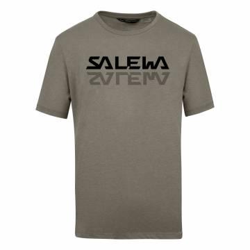 SALEWA REFLECTION DRY CAMISETA HOMBRE BROWN BUNGEE CORD MELANGE