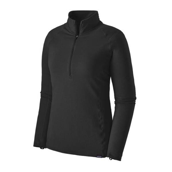 PATAGONIA CAPILENE THERMA WEIGHT ZIP NECK NEGRO CAMISETA MUJER