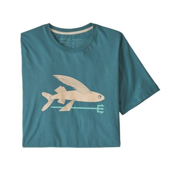 PATAGONIA ORGANIC COTTON FLIYING FISH CAMISETA HOMBRE